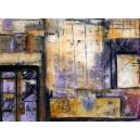 Le mur timbré violet